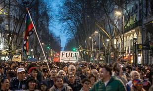 Multitudinaria marcha pidiendo la aparición con vida de Santiago Maldonado