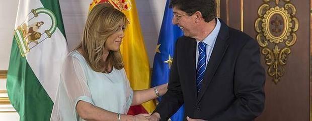 Ciudadanos dice «sí» a la investidura de Susana Díaz si hoy se firman los documentos
