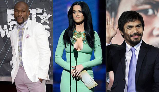 Mayweather, Pacquiao y Katy Perry, celebridades mejor pagadas según Forbes