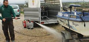 Instalan en el embalse de La Bre�a II (C�rdoba) la primera estaci�n m�vil de desinfecci�n de mejill�n cebra en la cuenca