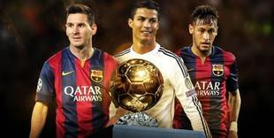 Messi, Neymar y Cristiano Ronaldo, optarán al Balón de Oro 2015