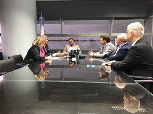 Miranda fue recibido por el subsecretario de Trabajo de la Nación