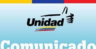Alianza opositora demanda que di�logo con Gobierno sea p�blico y en Caracas