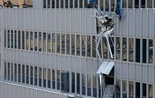 Diez heridos luego de caerse la carga de una grúa en Nueva York
