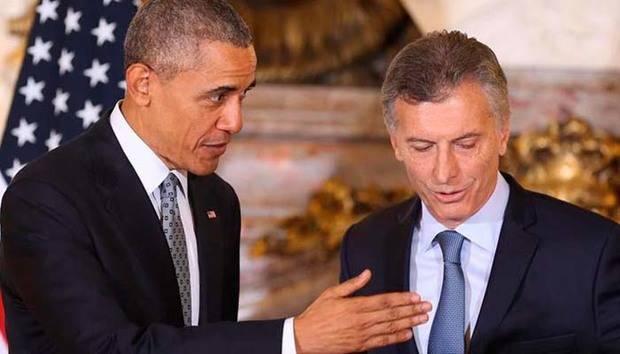 Obama promete trabajar con Macri en