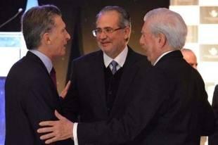 Miguel Henrique Otero discuti� con Macri y Vargas Llosa la situaci�n de Venezuela