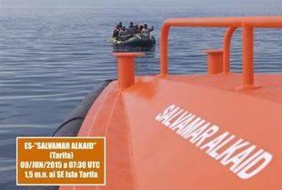 23 rescatados en aguas del Estrecho en dos embarcaciones neumáticas