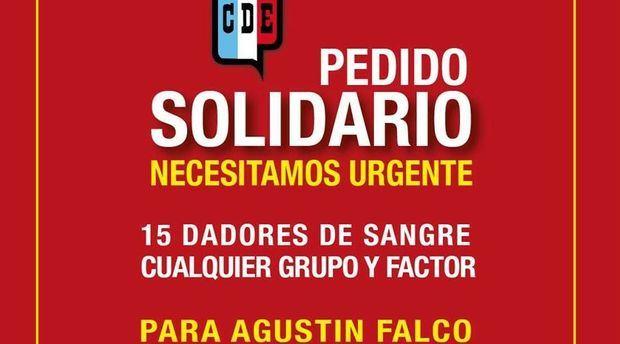 Deportivo Español solicita con suma urgencia dadores de sangre para el directivo afectado por el accidente en el club