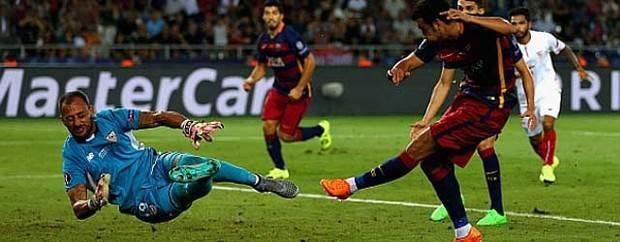 Pedro da la Supercopa al Barcelona (5-4) frente a un enorme Sevilla