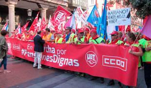 La marcha por las pensiones 'dignas' llega a Valladolid para reclamar al Gobierno la mejora del sistema