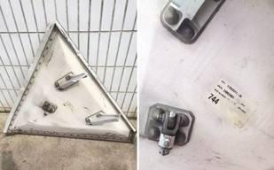 Una placa de 60 kilos cae de un avión sobre el techo de una fábrica en China