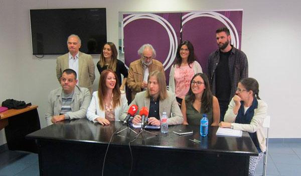 Pablo Fernández presenta la nueva ejecutiva de Podemos CyL que conformará la