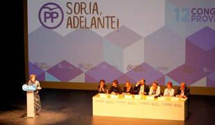 Angulo asume su reelección como presidenta del PP en Soria con 'un equipo y un proyecto' para seguir adelante