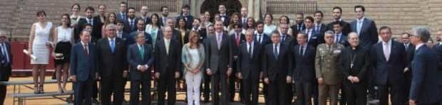 La Real Maestranza entrega sus premios universitarios y taurinos en un acto presidido por el Rey