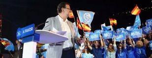 Rajoy cerr� la campa�a hablando m�s de Podemos que de sus propuestas
