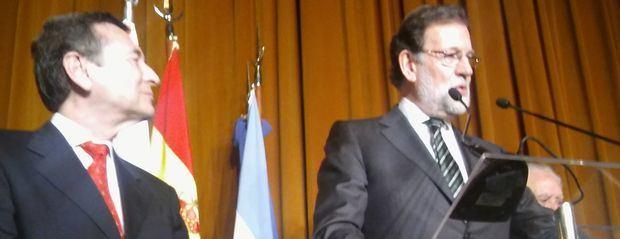 La colectividad española le brindó una emotiva recepción a Rajoy