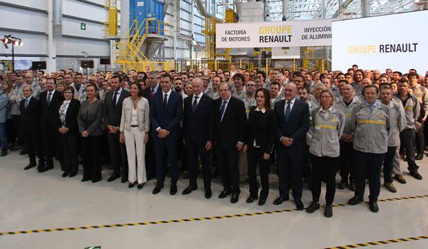 Renault anuncia una nueva planta de inyección de aluminio en 2019 que permitirá duplicar la plantilla