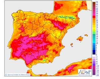 Cielos poco nubosos en Andalucía y temperaturas mínimas sin cambios