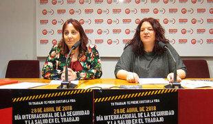 CCOO y UGT organizan una campaña frente a la siniestralidad laboral, que aumenta un 7%