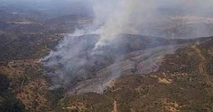 El incendio declarado en El Ronquillo sigue activo pero presenta 'evolución favorable'