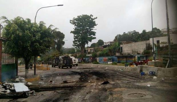 Fuerte represión de la GNB en los Altos Mirandinos