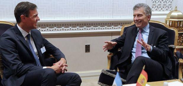 Macri y Sánchez analizaron la Cumbre del G-20 y las negociaciones entre el MERCOSUR y la UE