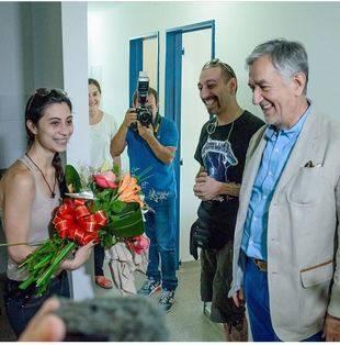 San Luis recibió a la primera pareja de refugiados sirios