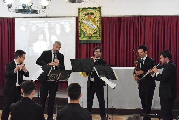 Sublime actuación del quinteto de Viento Zoar en la Federación de Sociedades Gallegas