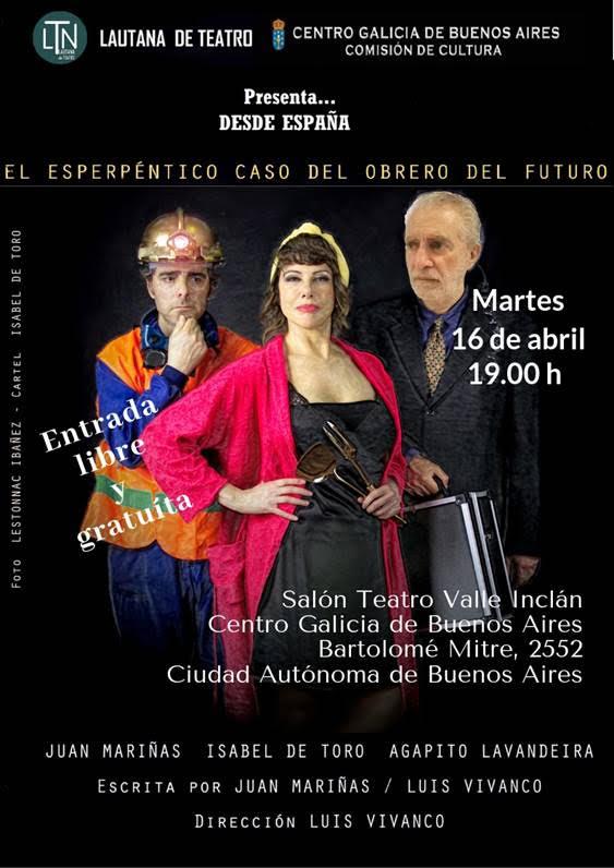 La compañía gallega Lautana de Teatro en el Centro Galicia