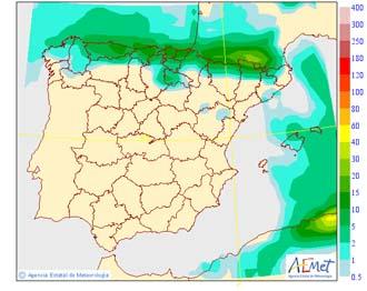 Aviso naranja por lluvias en Huelva, Sevilla, Cádiz y la costa malagueña