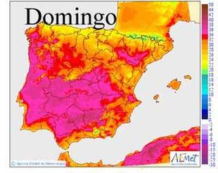 Las temperaturas máximas alcanzarán los 39 grados en el Valle Guadalquivir