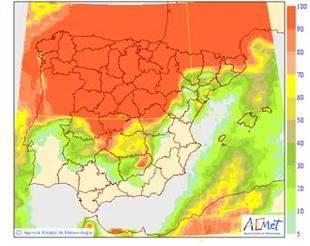 Descenso generalizado de las temperaturas salvo en el extremo oriental