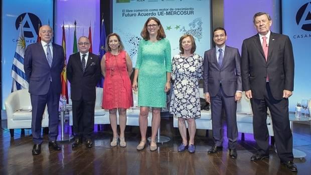 La jefa de comercio de la UE cree que a fin de año puede haber un acuerdo político con el Mercosur