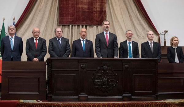 Felipe VI destaca la aportación de España y Portugal para 'una humanidad más pacífica'