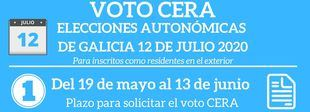 Información para el voto de los/as residentes en el exterior para las elecciones gallegas