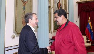 Rodríguez Zapatero se reúne con Maduro para reactivar diálogo en Venezuela
